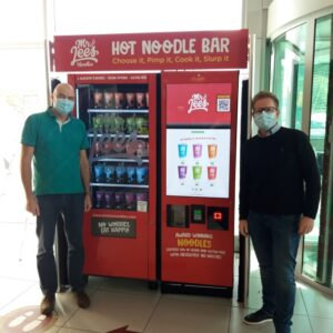 Hot noodle kiosks at Moto Service Stations